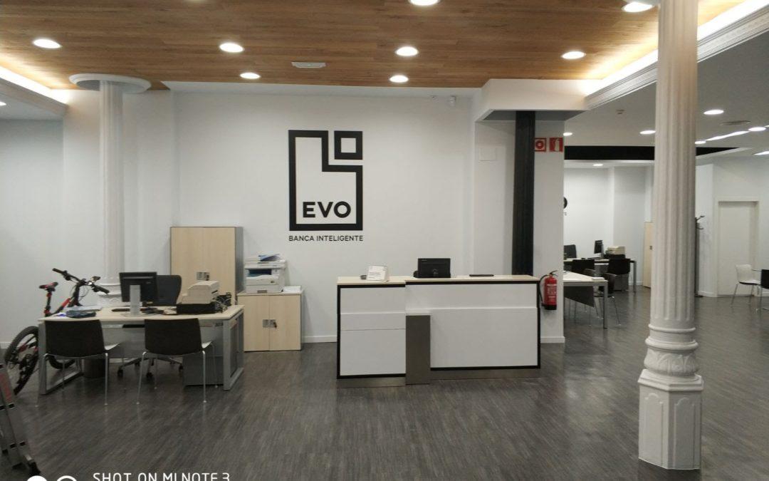 Reforma de local comercial EVO Banco en Valencia