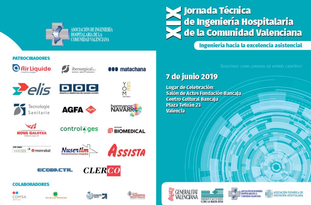 Assista será uno de los patrocinadores de la XIX Jornada Técnica de Ingeniería Hospitalaria de la Comunidad Valenciana