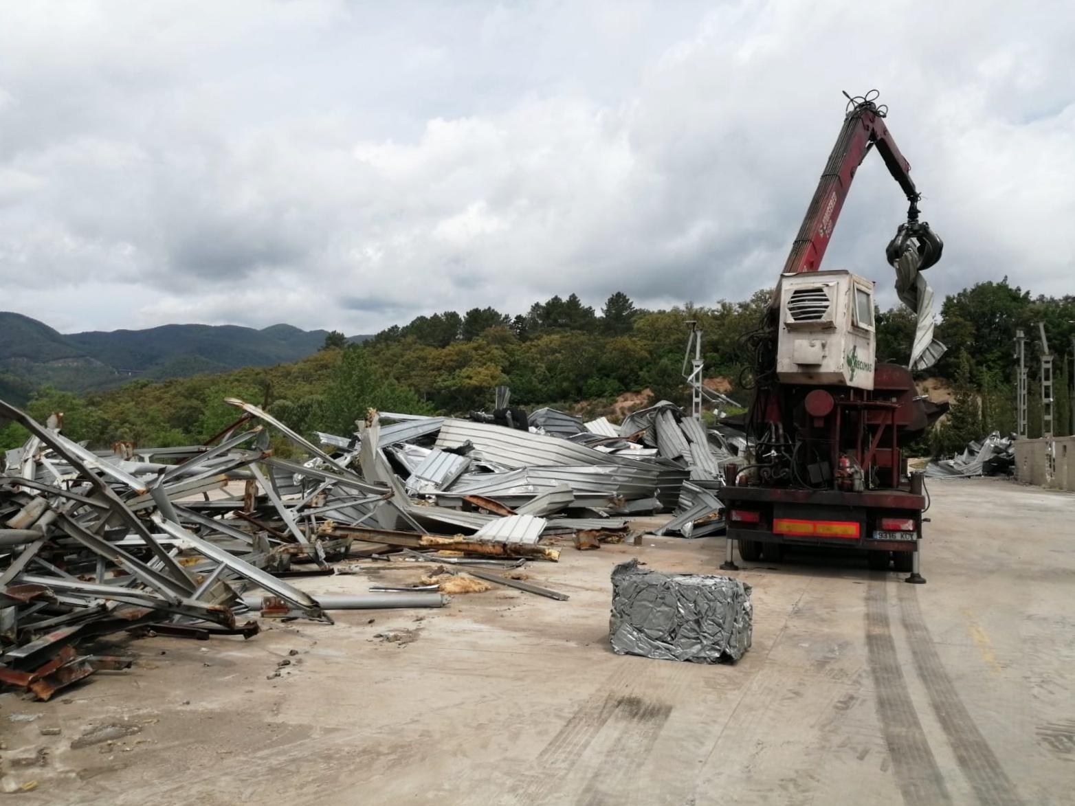 Demolición de edificaciones en Girona
