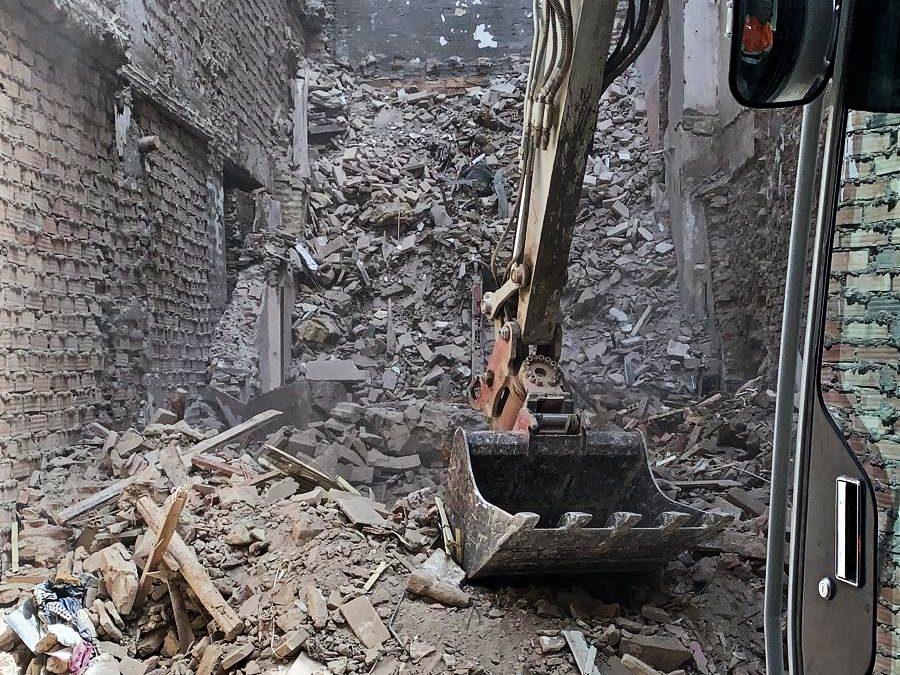 Demolición de edificio en Granada