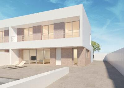 Construcción de dos viviendas unifamiliares