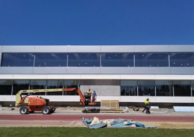 Obras de ampliación de gimnasio en Zaragoza